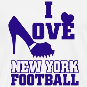 Football - i love newyork football - Men's Premium T-Shirt