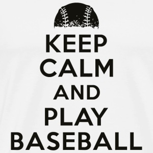 Baseball - Keep calm and play baseball - Men's Premium T-Shirt