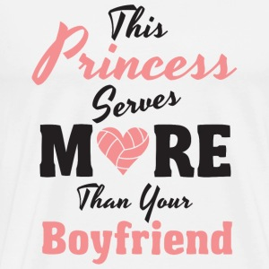 Volleyball - This Princess serves more than your - Men's Premium T-Shirt