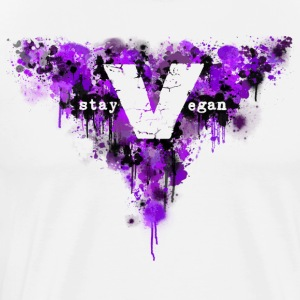 stay vegan [lilac] - Men's Premium T-Shirt