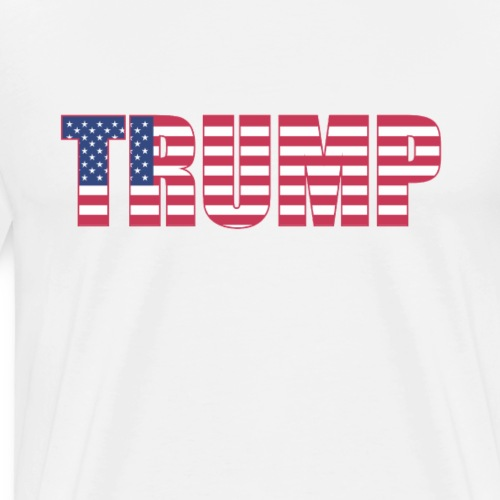 TRUMP American Flag Logo - Men's Premium T-Shirt