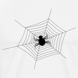 Black Spider Web - Men's Premium T-Shirt