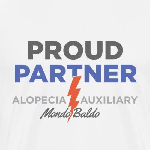 Alopecia Auxiliary - Proud Partner - Men's Premium T-Shirt