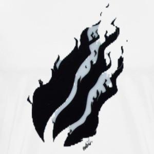 Black Fire With Greyish White Shadow - Men's Premium T-Shirt