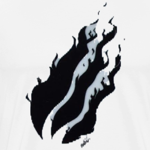 Black Fire With Greyish White Shadow - Men's Premium T-Shirt