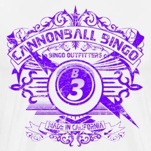 Vintage Cannonball Bingo Crest Purple - Men's Premium T-Shirt