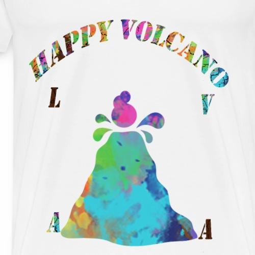 HAPPY VOLCANO - Men's Premium T-Shirt