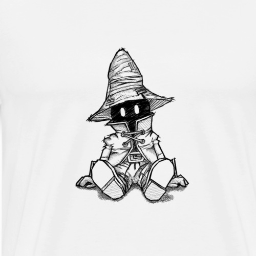 Vivi drawing from Final Fantasy IX - Men's Premium T-Shirt
