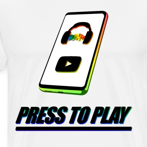 PRESS TO PLAY - Men's Premium T-Shirt