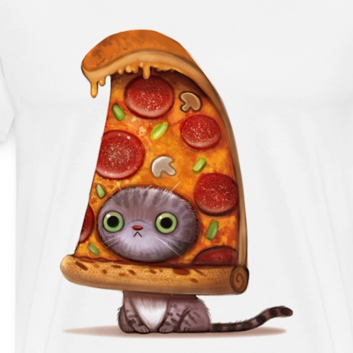 Pizza kitten - Men's Premium T-Shirt