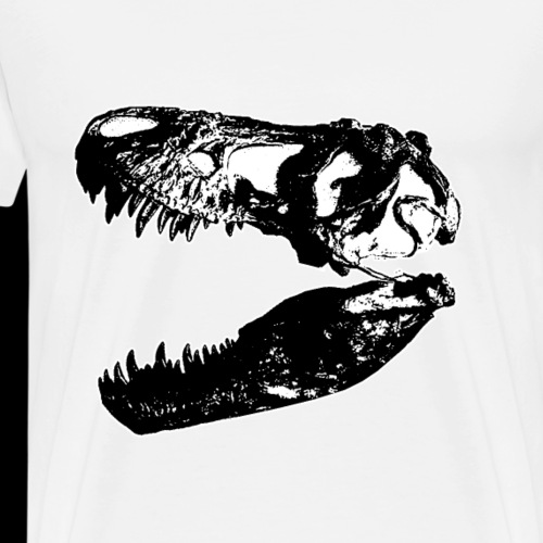 t rex skull in black - Men's Premium T-Shirt
