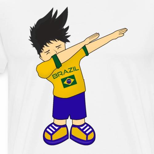 Brazil National Soccer Team Russia World dabbing - Men's Premium T-Shirt