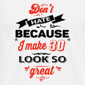 30th birthday designs - Men's Premium T-Shirt