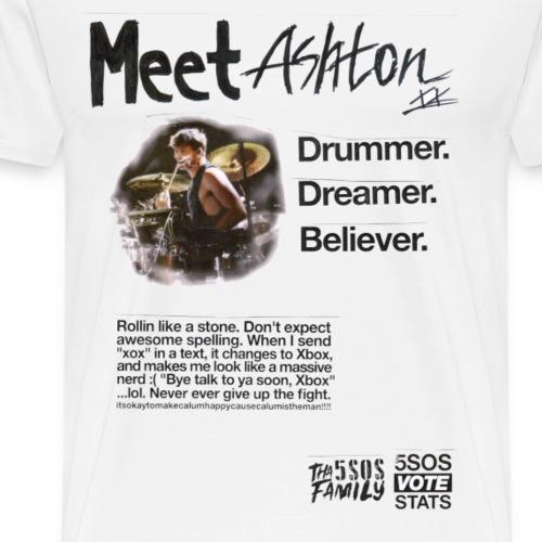 She Looks So Perfect - Meet Ashton TRANSPARENT - Men's Premium T-Shirt