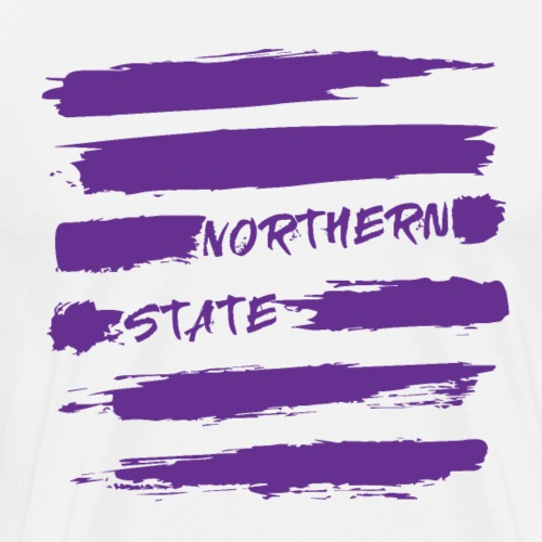 Brush Stroke Purple - Men's Premium T-Shirt