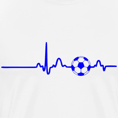 EKG HEARTBEAT BALL blue - Men's Premium T-Shirt