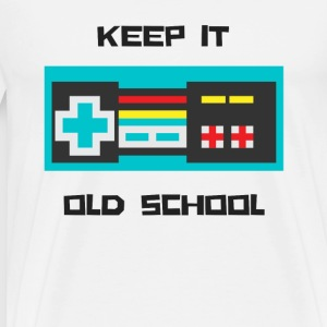 Keep it Old School - Men's Premium T-Shirt