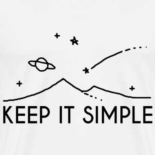 Drawing Keep it simple - Men's Premium T-Shirt