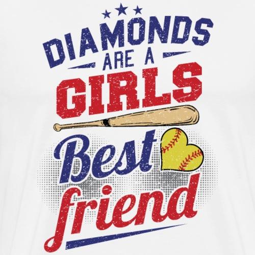 Softball bat baseball diamond - Men's Premium T-Shirt