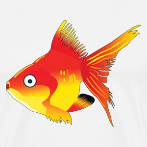 Orange Tropical Fish - Men's Premium T-Shirt