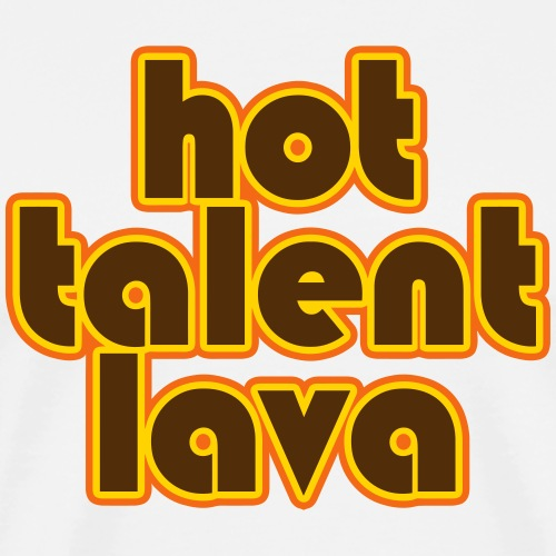 Hot Talent Lava - Brown Letters - Men's Premium T-Shirt