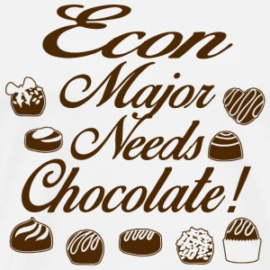 Chocolate - econ major needs chocolate - Men's Premium T-Shirt