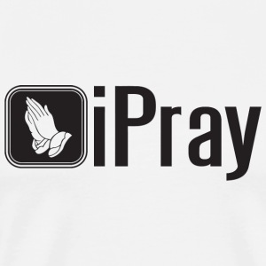 Jesus - iPray - Men's Premium T-Shirt