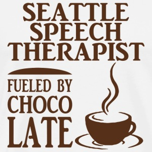 Chocolate - seattle speech therapist fueled by c - Men's Premium T-Shirt