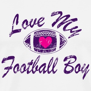 Football - love my football boy - Men's Premium T-Shirt