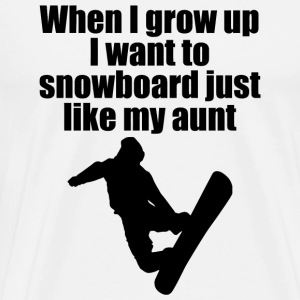SNOWBOARD - WHEN I GROW UP I WANT TO SNOWBOARD J - Men's Premium T-Shirt