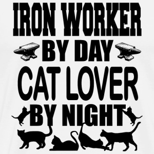Iron worker - iron worker by day cat lover by ni - Men's Premium T-Shirt
