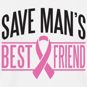 Breast cancer - Save men's best friend - Men's Premium T-Shirt