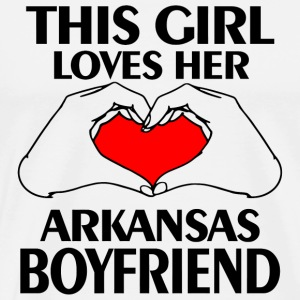 - this girl loves her arkanas boyfriend - Men's Premium T-Shirt