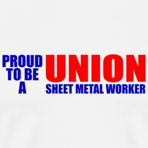 Worker - proud to be a union sweet metal worker - Men's Premium T-Shirt