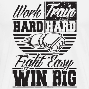 Bjj - Work hard, train hard, fight easy win big - Men's Premium T-Shirt