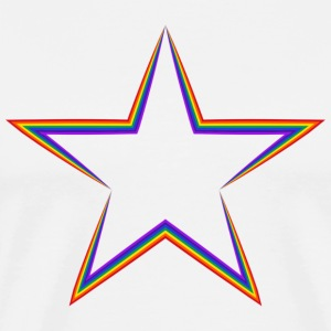 LGBT  Rainbow Star  !!! - Men's Premium T-Shirt