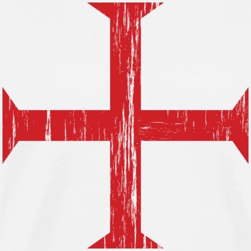Knights Templar Crusader Cross - Men's Premium T-Shirt