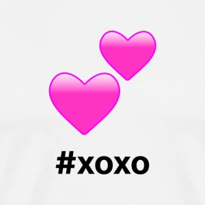 #xoxo Hearts Design (Pink Hearts) - Men's Premium T-Shirt
