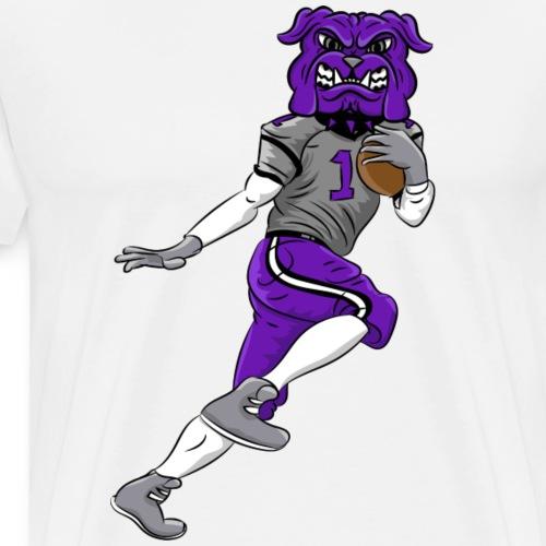 custom bulldog mascot purple football - Men's Premium T-Shirt