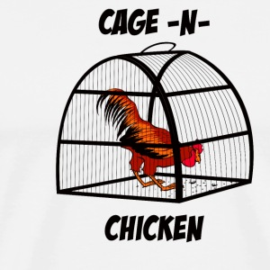cage-n-chicken - Men's Premium T-Shirt