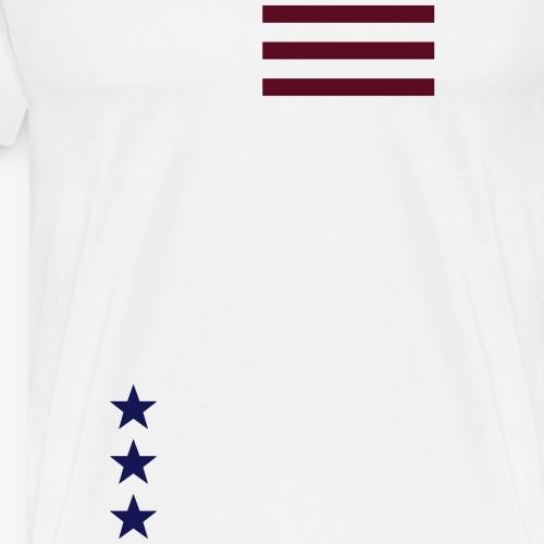 stars and stripes minimalistic - Men's Premium T-Shirt