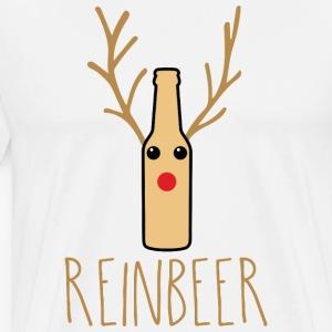 Reinbeer Funny Christmas Reindeer Beer Gift - Men's Premium T-Shirt
