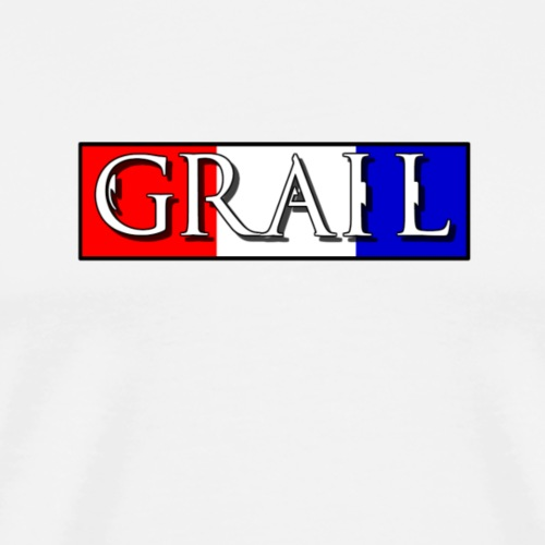 Read, White, and Blue Grail Logo - Men's Premium T-Shirt
