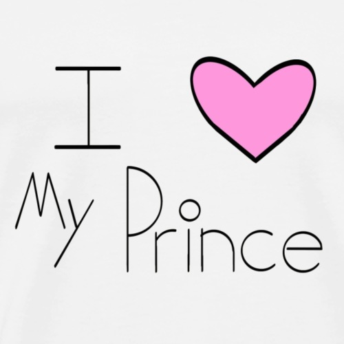 Pink I Heart My Prince - Men's Premium T-Shirt