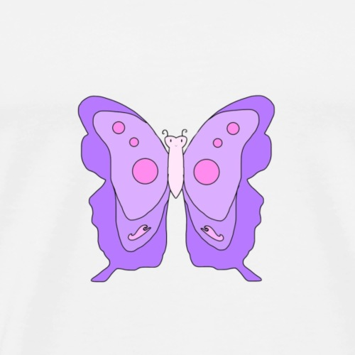 Purple Butterfly - Men's Premium T-Shirt