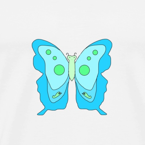 Blue Butterfly - Men's Premium T-Shirt