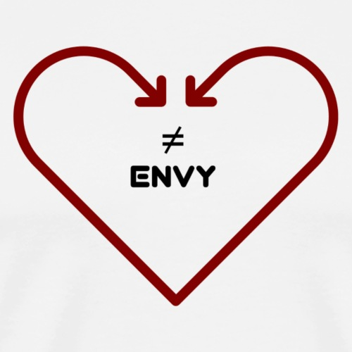 love does not envy - Men's Premium T-Shirt
