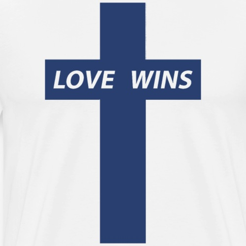 Love Wins (Dark Blue) - Men's Premium T-Shirt