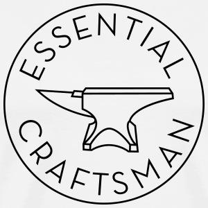 Essential Craftsman Logo - Black - Men's Premium T-Shirt