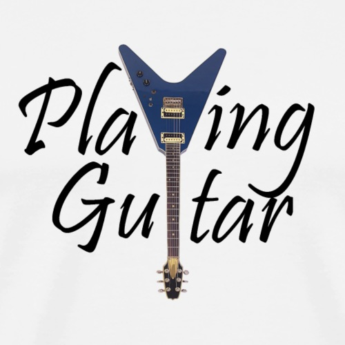Playing Guitar - Men's Premium T-Shirt